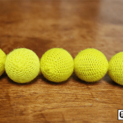 """Crochet 5 Ball combo Set (1""""/Yellow) by Mr. Magic - Trick"""