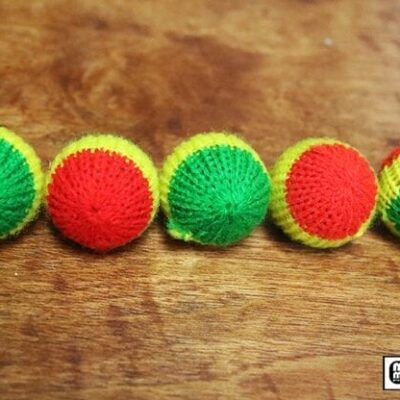 "Crochet 5 Ball combo Set (1""/Multi Color) by Mr. Magic - Trick"