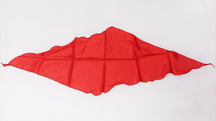 Diamond Cut Silk 24 inch (RED) by Magic by Gosh - Trick