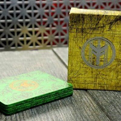 FIBER BOARDS Cardistry Trainers (Emerald Green) by Magic Encarta - Trick