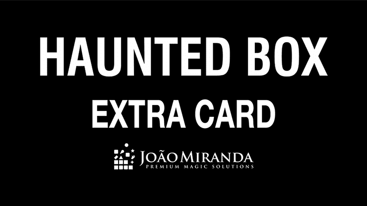 Haunted Box Extra Gimmicked Card (Blue) by João Miranda Magic - Trick