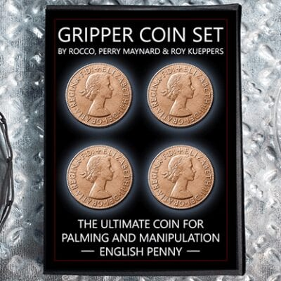 Gripper Coin (Set/English Penny) by Rocco Silano - Trick