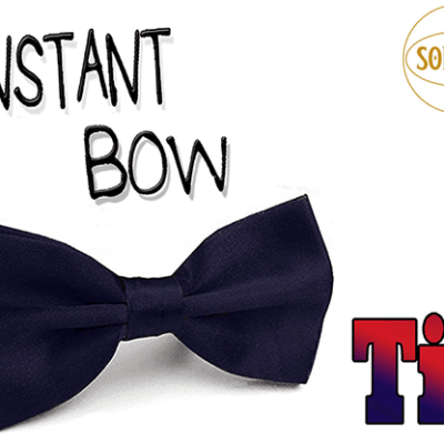 Instant Bow Tie (Blue) by Sorcier Magic - Trick