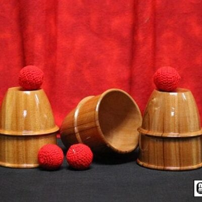 Cups and Balls (Wooden) by Mr. Magic - Trick