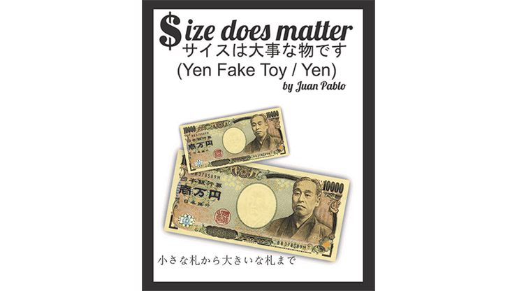 Size Does Matter J-YEN (Gimmicks and Online Instruction) by Juan Pablo Magic