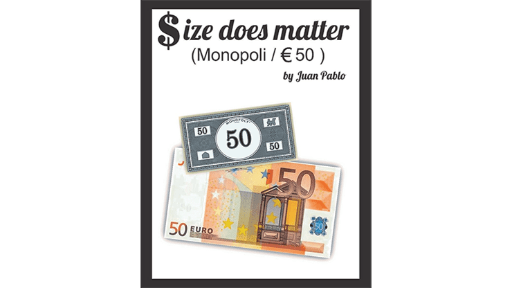 Size Does Matter MONOPOLY EURO (Gimmicks and Online Instructions) by Juan Pablo Magic