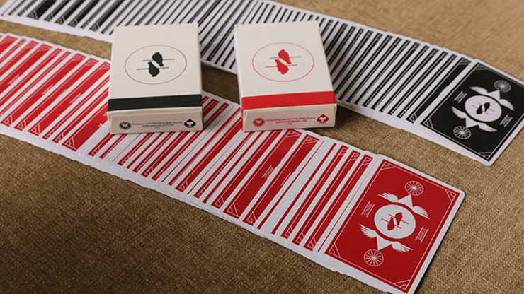 Limited Edition Wings V2 Marked Playing Cards (Black/Bridge Size)