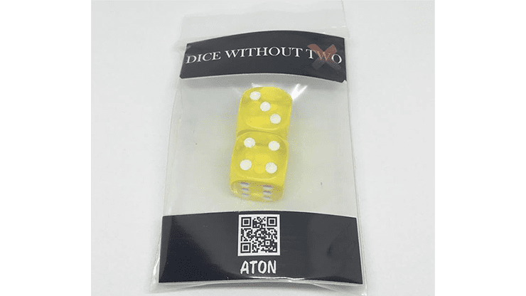 Dice Without Two CLEAR YELLOW (2 Dice Set) by Nahuel Olivera Magic and Aton Games - Trick