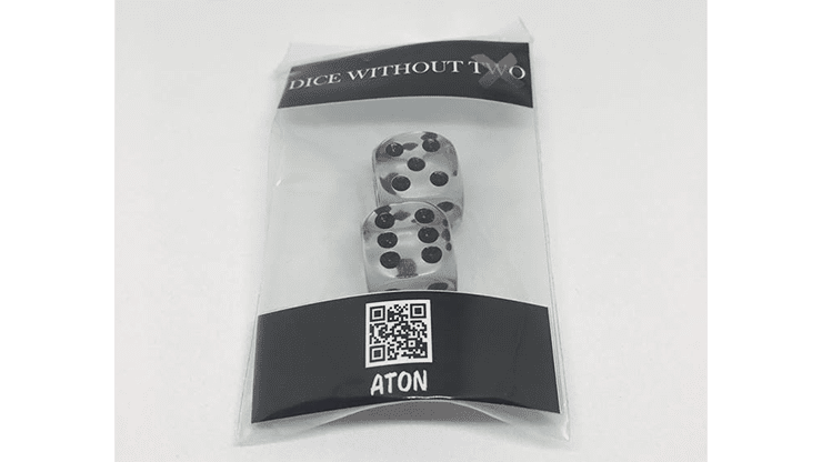 Dice Without Two CLEAR CRYSTAL (2 Dice Set)  by Nahuel Olivera Magic and Aton Games - Trick