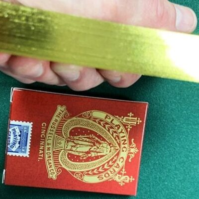 Limited Late 19th Century Square Faro Gilded (Red) Playing Cards