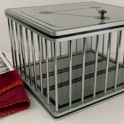 Silver Dove and Rabbit Cage by Tora Magic