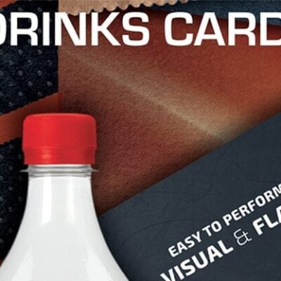 Drink Card KIT for Astonishing Bottle (Gimmick and Online Instructions) by João Miranda and Ramon Amaral  - Trick