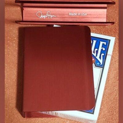 The Porper Card Clip (Red) Flat-Spine by Joe Porper - Trick