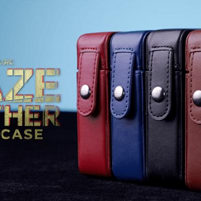 MAZE Leather Card Case (Blue) by Bond Lee - Trick