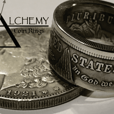 Kennedy Half Dollar Ring (Size: 10.5) by Alchemy Coin Rings - Trick