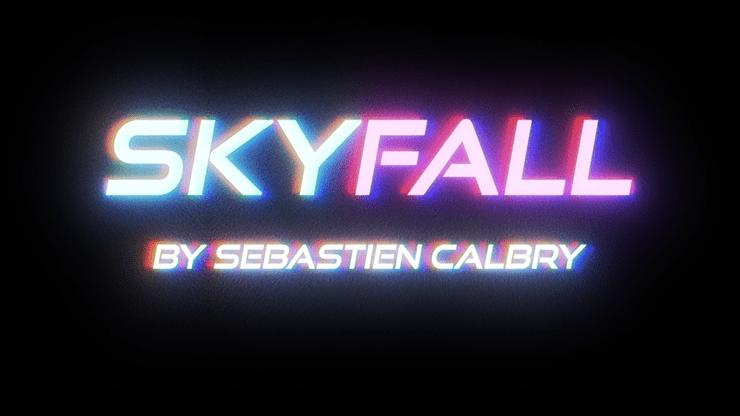 SKY FALL  BLUE  by Sebastien Calbry - Trick