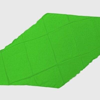 Diamond Cut Silk 18 inch (Green) by Magic by Gosh-Trick