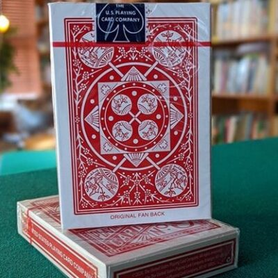 Experts Thin Crushed Printed on Web Press Tally Ho Fan Back (Red) Playing Cards