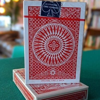 Experts Thin Crushed Printed on Web Press Tally Ho Circle Back (Red) Playing Cards