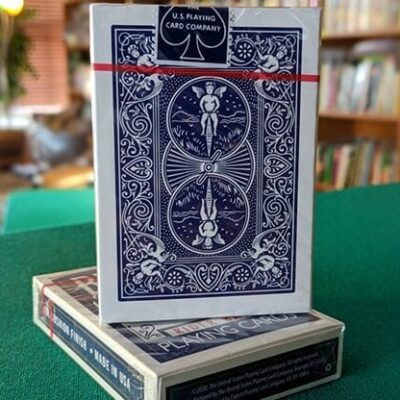 Experts Thin Crushed Printed on Web Press Rider Back Back (Blue) Playing Cards