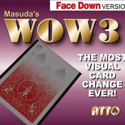 WOW 3 Face-DOWN (Gimmick and Online Instructions) by Katsuya Masuda - Trick