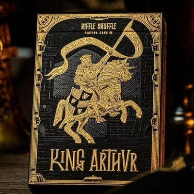 King Arthur Golden Knight (Foiled Edition) Playing Cards by Riffle Shuffle