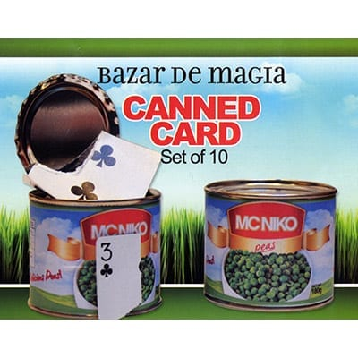 Canned Card (Blue) ( Set of 10 cans ) by Bazar de Magia - Trick