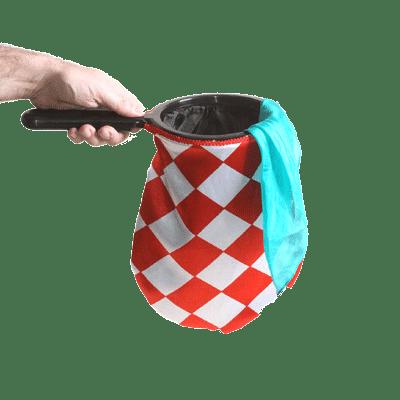 Change Bag Diamond with Zipper (Red/White) by Bazar de Magia - Trick