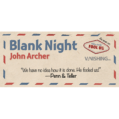 Blank Night (Blue) by John Archer - Trick