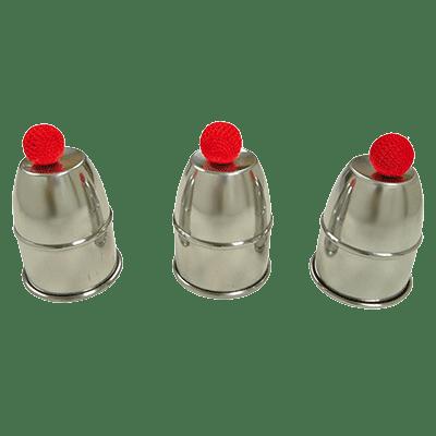 Busking Cups & Balls(Large / Alum) by Premium Magic - Trick