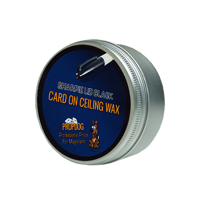 Card on Ceiling Wax 50g (Sharpie Lid Black) by David Bonsall and PropDog - Trick