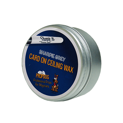 Card on Ceiling Wax 15g (Sharpie Grey) by David Bonsall and PropDog - Trick