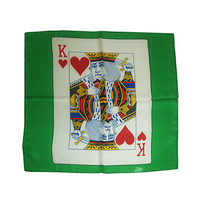 Card Silk 24 inch (King of Hearts) by Stolina Magic - Trick