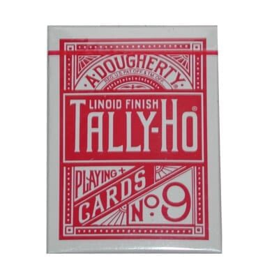 Cards Tally Ho Fan Back Poker size (Red)