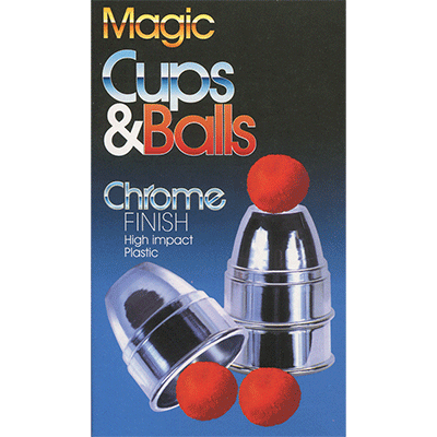 Chrome Cups & Balls (plastic) by Loftus Magic - Trick