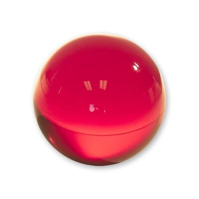 Contact Juggling Ball (Acrylic, RUBY RED, 70mm) - Trick
