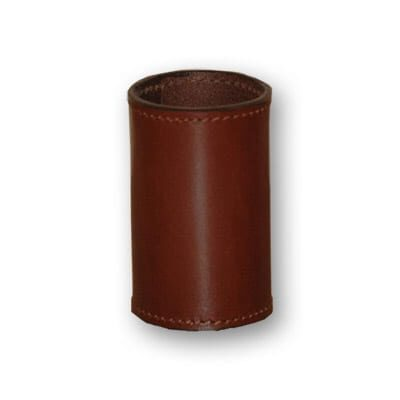 Leather Coin Cylinder (Brown, Half Dollar Size) - Trick