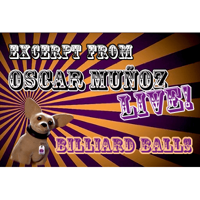 Billiard Balls  by Oscar Munoz (Excerpt from Oscar Munoz Live) video DOWNLOAD