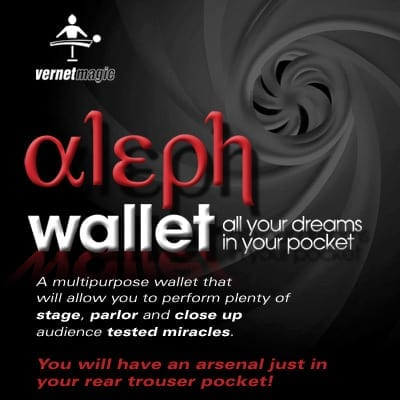 Aleph Wallet (Gimmick and Online Instructions) by Vernet Magic