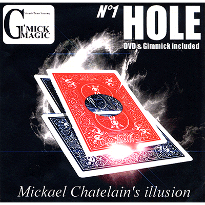 Hole (RED)(DVD and Gimmick) by Mickael Chatelain - DVD