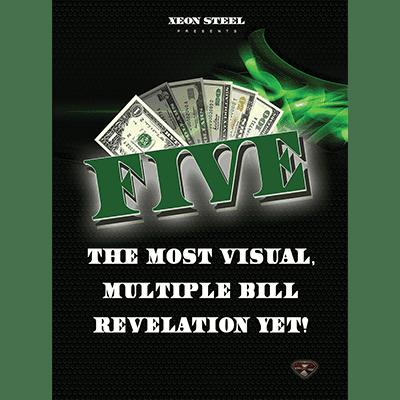 Five (DVD & Gimmicks) by Xeon Steel  - Trick