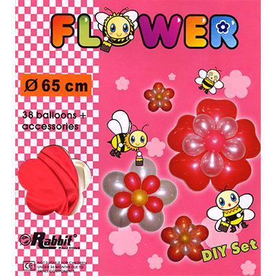 Four Balloon Flower Kit DIY SET (38 balloons 65cm) by Will Roya - Trick