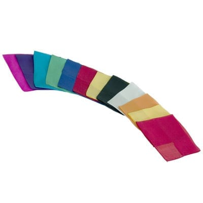 Silks 9 inch 12 Pack (Assorted) Magic by Gosh - Trick