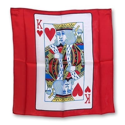 Silk 18 inch King of Hearts Card from Magic by Gosh - Trick