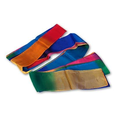 Multicolor Silk Streamer 4 inch by 30 feet from Magic by Gosh - Trick