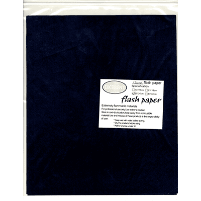 Flash Paper five pack(25x20cm) Black - Trick