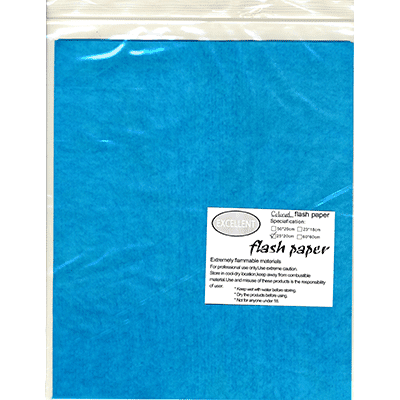 Flash Paper five pack(25x20cm) Blue - Trick