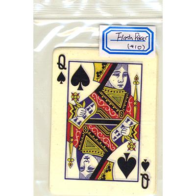 Flash Poker Card Queen of Spades (Ten Pack) - Trick