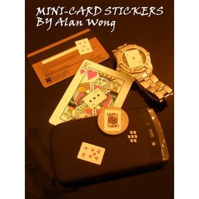 Mini Card Stickers (12 sheets) by Alan Wong- Trick
