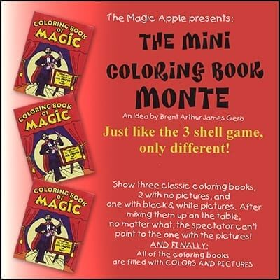 Mini Coloring Book Monte by  Magic Apple - Trick